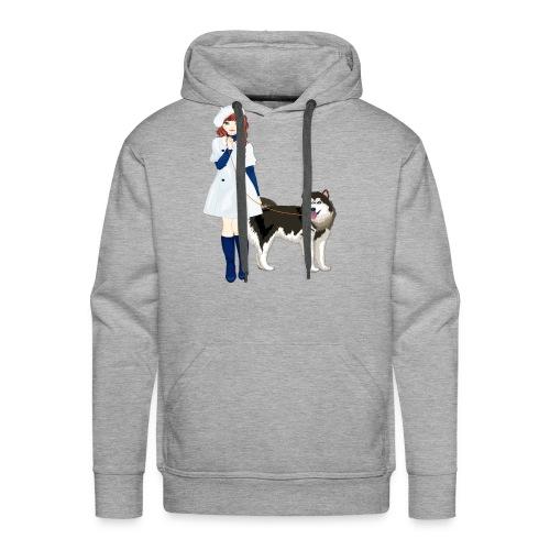 i love my husky - Men's Premium Hoodie