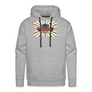 vector retro freedom illustration - Men's Premium Hoodie