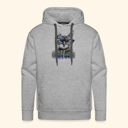 smart cat - Men's Premium Hoodie