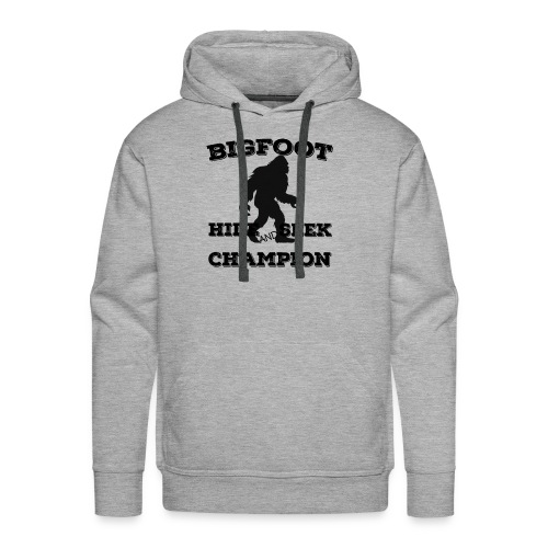 Bigfoot Hide and Seek Champin Undefeated Yeti Fans - Men's Premium Hoodie
