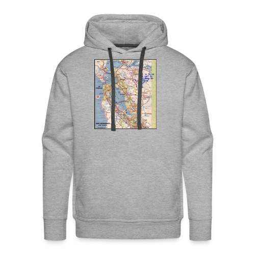 Phillips 66 Zodiac Killer Map June 26 - Men's Premium Hoodie