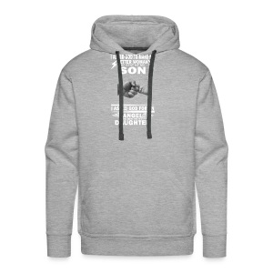 I ASKED GOD TO MAKE ME BETTER WOMAN HE SENT ME MY - Men's Premium Hoodie