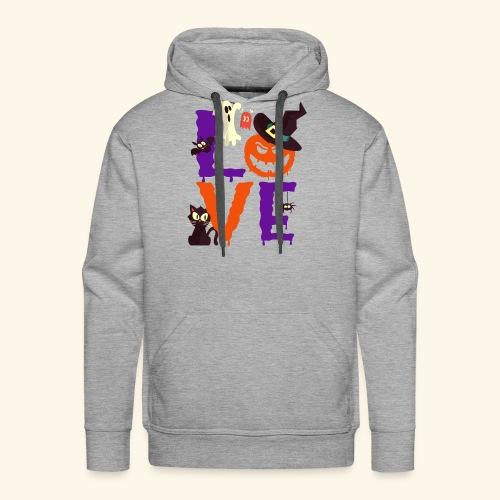 Love Halloween Funny Design - Men's Premium Hoodie