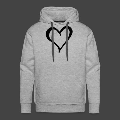 Heart Sketch - Men's Premium Hoodie