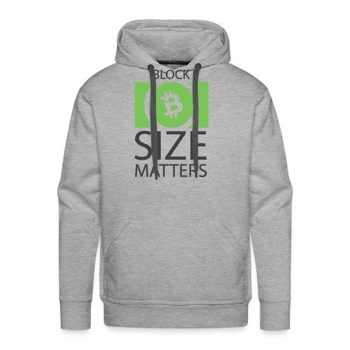Block Size Matters - Men's Premium Hoodie