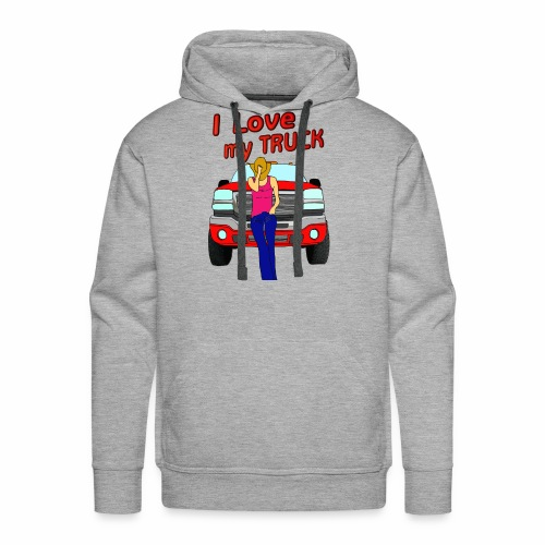 Girls Love Trucks Too - Men's Premium Hoodie