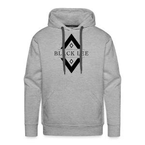 Black Lee Logo Transparent Black - Men's Premium Hoodie