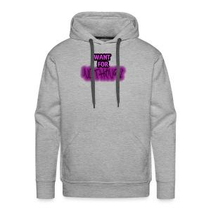 Want for Nothing Purple - Men's Premium Hoodie