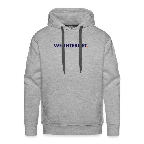 We the Internet Logo - Color Text - Men's Premium Hoodie