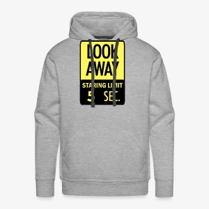 LOOK AWAY Yellow - Men's Premium Hoodie