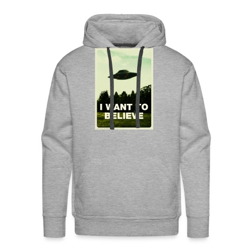 i want to believe (t-shirt) - Men's Premium Hoodie