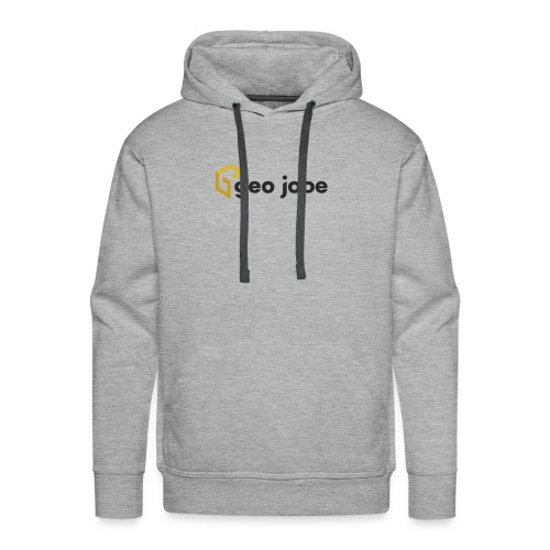 GEO Jobe Corp Logo - Black Text - Men's Premium Hoodie
