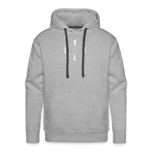 White Vall Co Cross Design - Men's Premium Hoodie