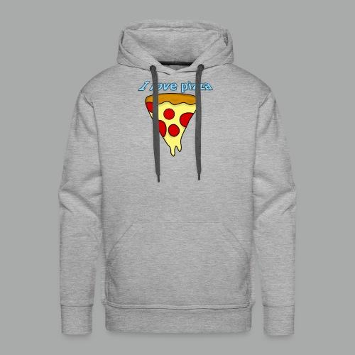 I love pizza - Men's Premium Hoodie