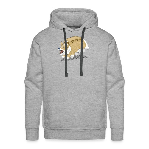 Corgbus: Jump inside for a Very Furry Ride. - Men's Premium Hoodie