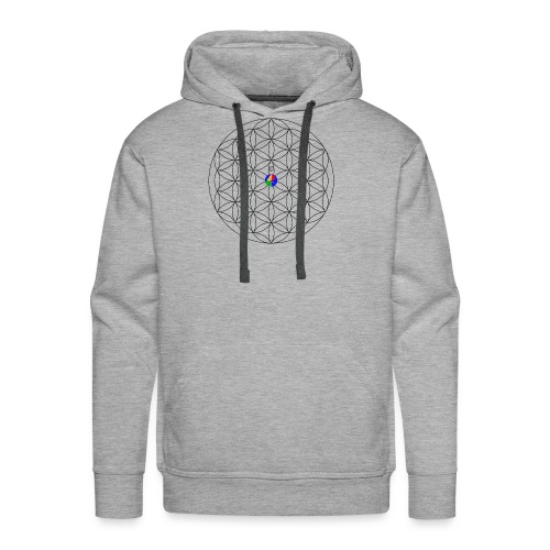 1200px-Flower-of-Life__aop-logo_light - Men's Premium Hoodie