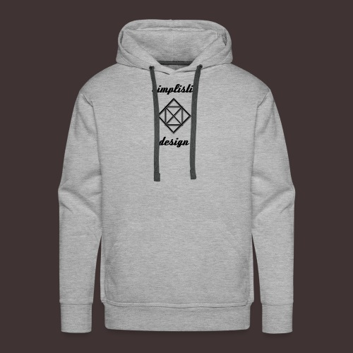 Simplistic Design Logo With Text - Men's Premium Hoodie