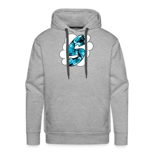 Skyz Blue Floral - Men's Premium Hoodie