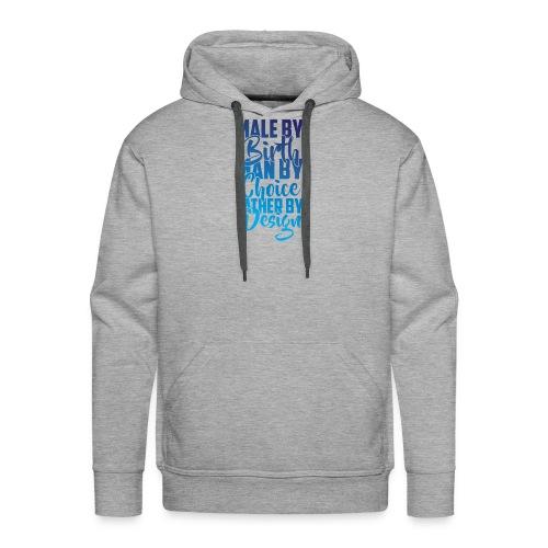 MALE BY BIRTH - MULTI BLUE - Men's Premium Hoodie