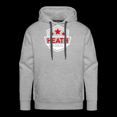 Red and White Logo - Men's Premium Hoodie