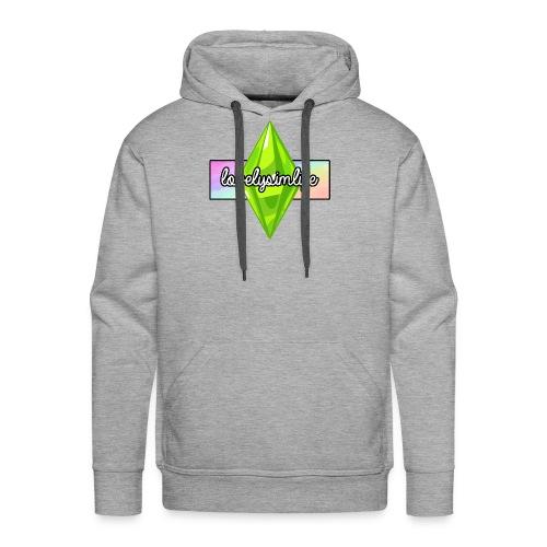 lovelysimlife Rainbow Logo - Men's Premium Hoodie