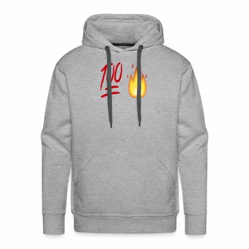 Fire & 100 Design - Men's Premium Hoodie
