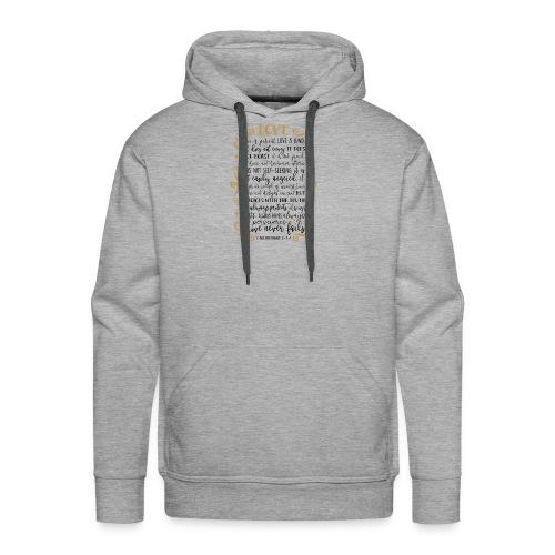 Bible Verses - T-shirts 1 Corinthians 13:4:8 - Men's Premium Hoodie