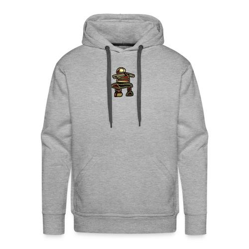 Inuksuk Totem Figure in Gold - Men's Premium Hoodie