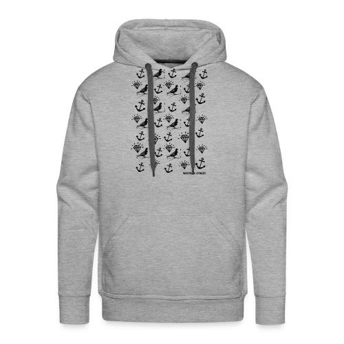 Pigeon Pattern - Men's Premium Hoodie