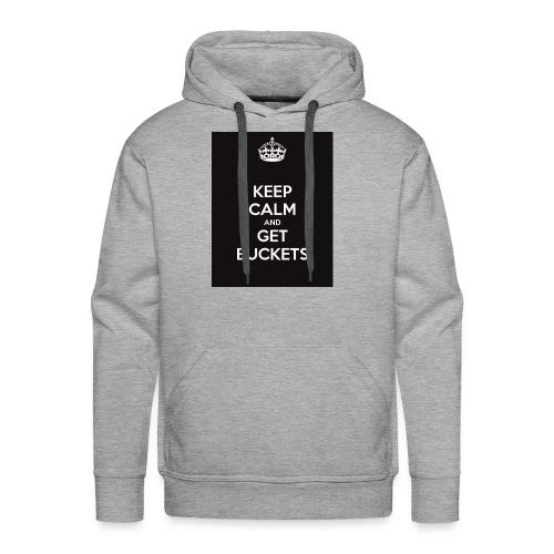 keep calm and get buckets 294 - Men's Premium Hoodie