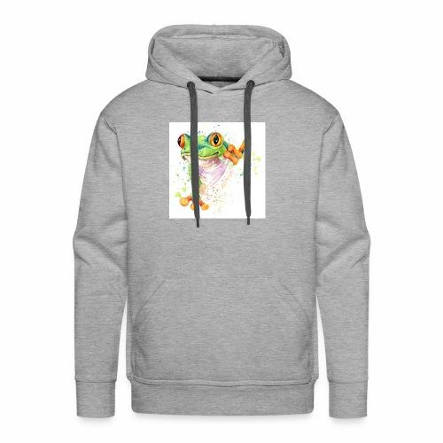 funny frog t shirt graphics frog illustration spl - Men's Premium Hoodie