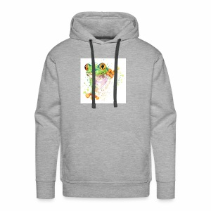 funny frog t shirt graphics frog illustration spl - Men's Premium Hoodie