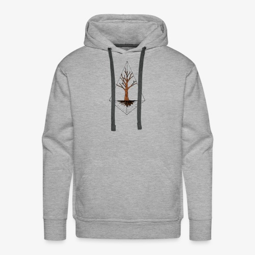 Hand drawn tree in a kite shaped outline - Men's Premium Hoodie