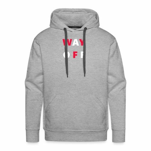 WAY OFF logo - Men's Premium Hoodie