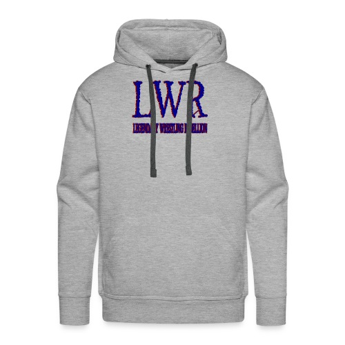 LWR RED AND BLUE LOGO - Men's Premium Hoodie