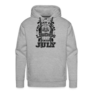 Legends are Born in July T Shirts - Men's Premium Hoodie