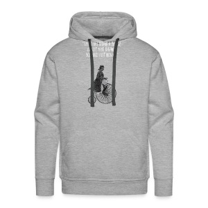 Life is like riding a bicycle - Men's Premium Hoodie