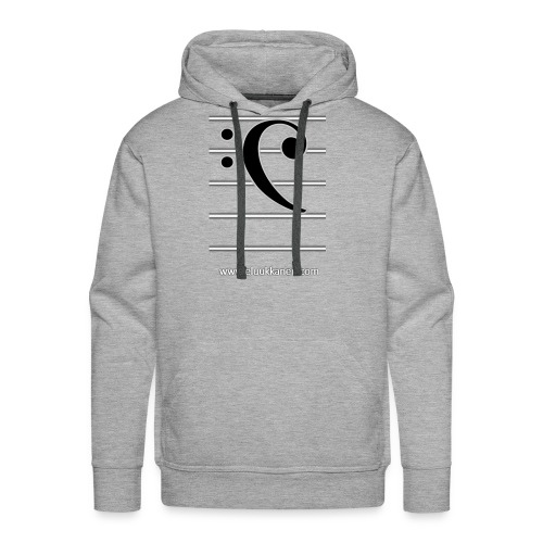 Musical Bass-Key - eluukkanen - Men's Premium Hoodie