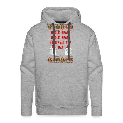 Jingle Bear (Red Text) - Men's Premium Hoodie