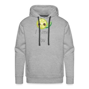 Funny and Cute Romantic Shirts I LIME YOU - Men's Premium Hoodie