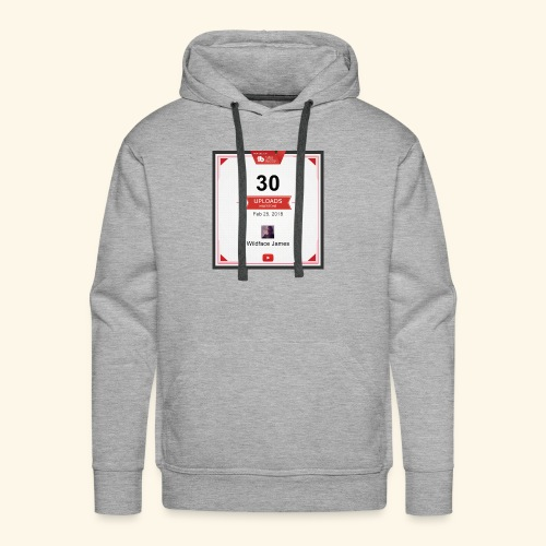 My youtube channel 30 uploads achievement - Men's Premium Hoodie