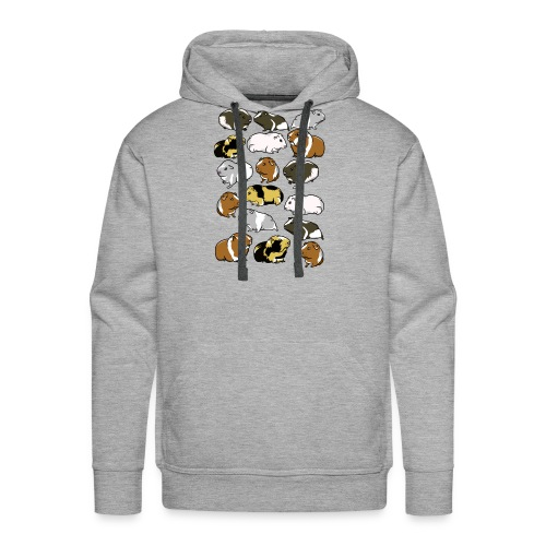 Cartoon guinea pig pattern - Men's Premium Hoodie