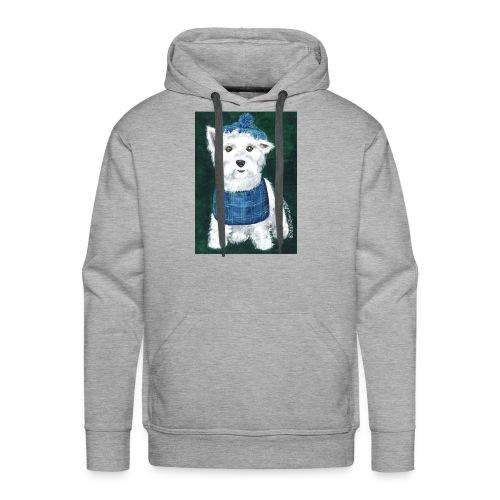 Laddie my Westie a Westie Highland White Terrier - Men's Premium Hoodie