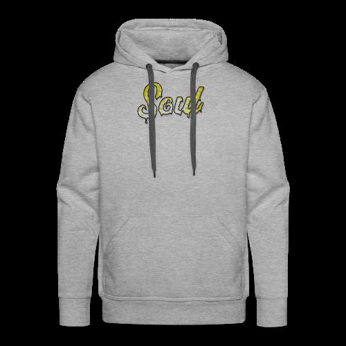 SOUL Yellow and White Halftone Gradient Logo - Men's Premium Hoodie