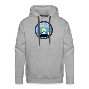 Parallel Mountain Range Badge - Men's Premium Hoodie
