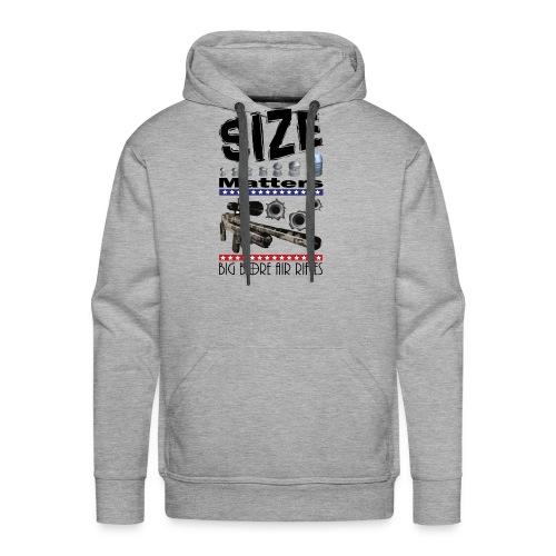 T-shirt Size Matters Big Bore Air Rifles - Men's Premium Hoodie
