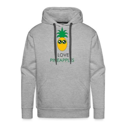I Love Pineapples - Men's Premium Hoodie