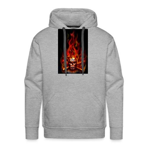 red fire skull - Men's Premium Hoodie