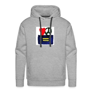 Peace, Love and Equality - Men's Premium Hoodie