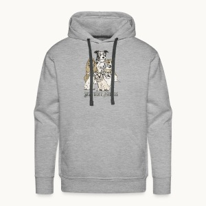 DOGS-SENTIENT BEINGS-white text-Carolyn Sandstrom - Men's Premium Hoodie